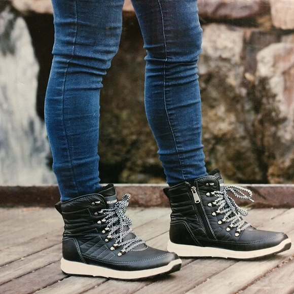 New Ladies Sneaker Boots Black Alexa